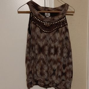 Sleeveless tunic blouse